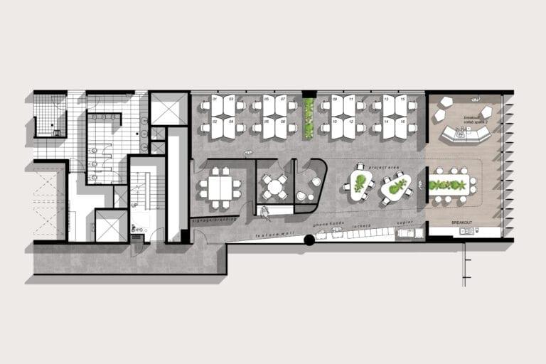 Level 11 (218sqm): Example of potential floorplan