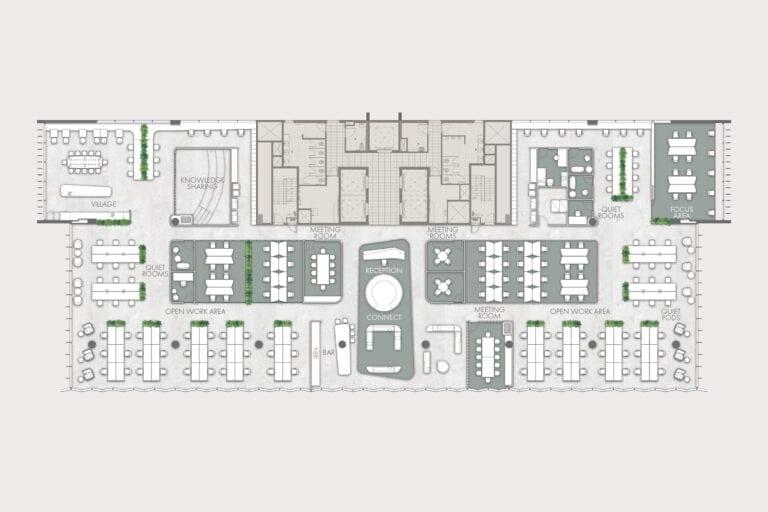 Level 6 (1,497sqm): Example of potential floorplan
